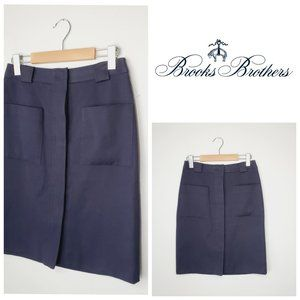 BROOKS BROTHERS Retro Style Button Down Skirt